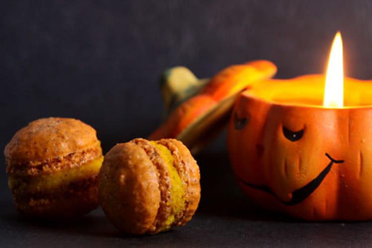 Macaron potimaron (ou potiron) noisette