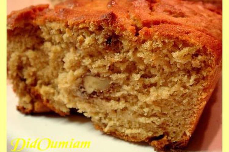 Cake à la banane, aux noix, au soja et au tofu soyeux