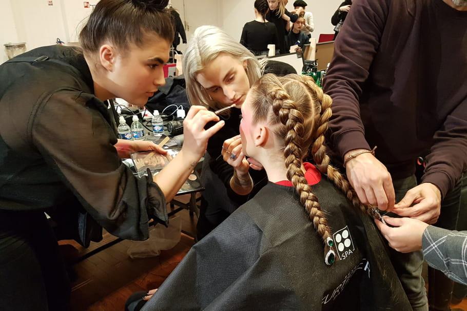 Dans les coulisses beauté du défilé haute couture printemps-été  2018d'Alexis Mabille