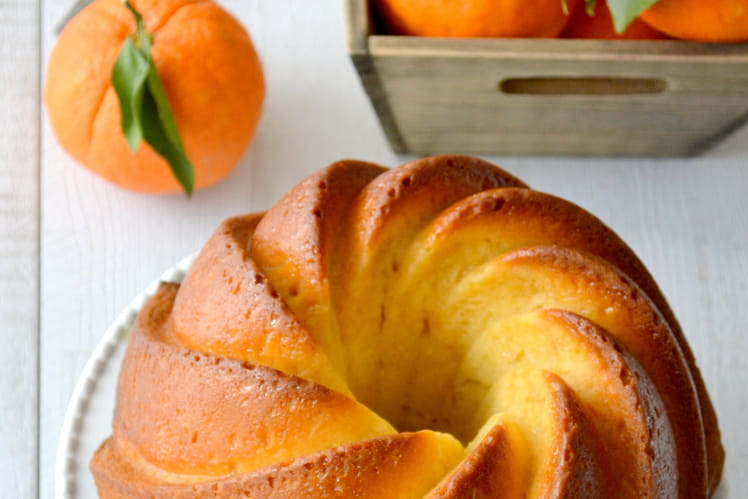 Bundt cake orange, amande et miel