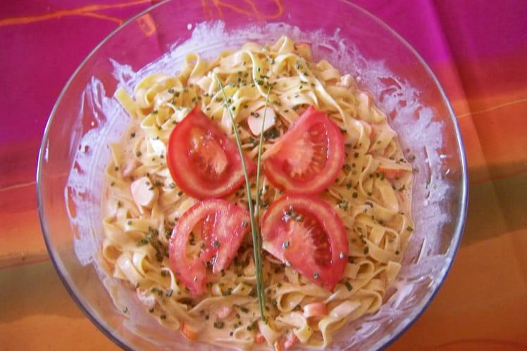 Tagliatelles sauce rose