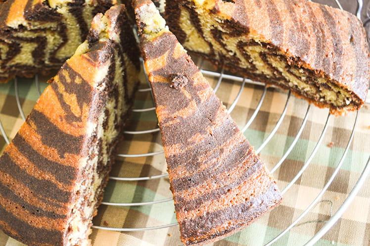Gâteau zébré façon Savane