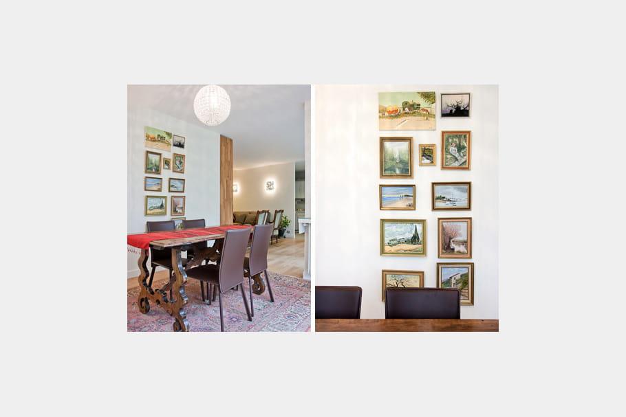 une disposition inventive des tableaux nouvel habit pour un appartement familial journal des. Black Bedroom Furniture Sets. Home Design Ideas