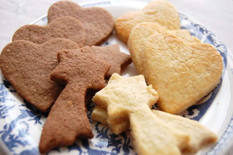 Sablés de Noël à la poudre d'amande, cannelle et gingembre