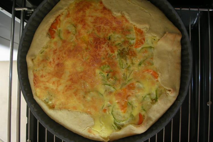 Tarte aux courgettes, carottes et oignon