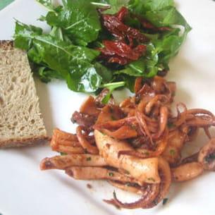 calamars en persillade épicée