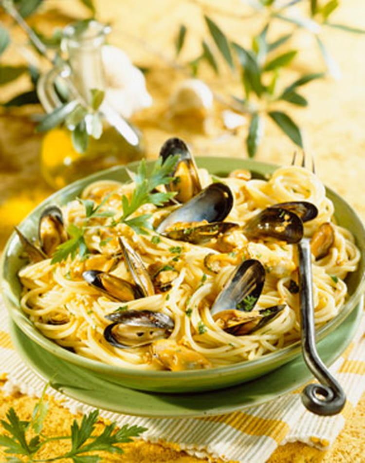 recette de spaghettis aux moules : la recette facile