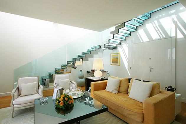 Escaliers de verre