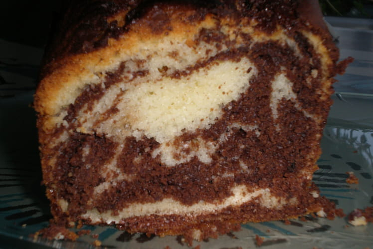 Cake marbré au yaourt et chocolat