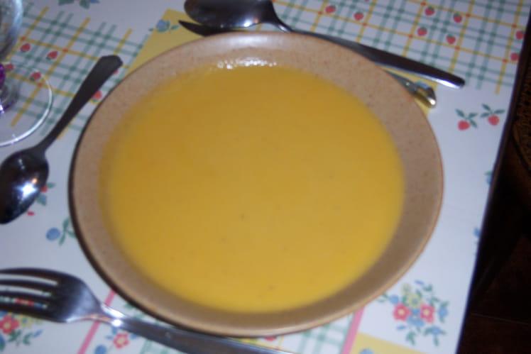 Velouté de patates douces et poires