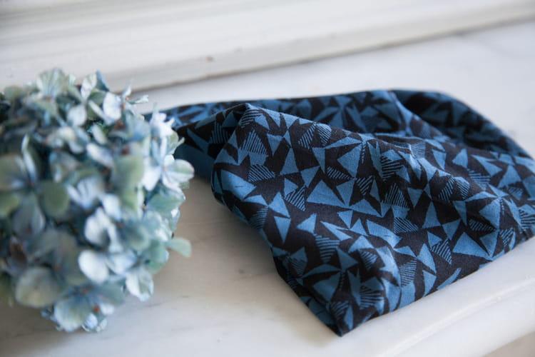 tissu atelier brunette bleu