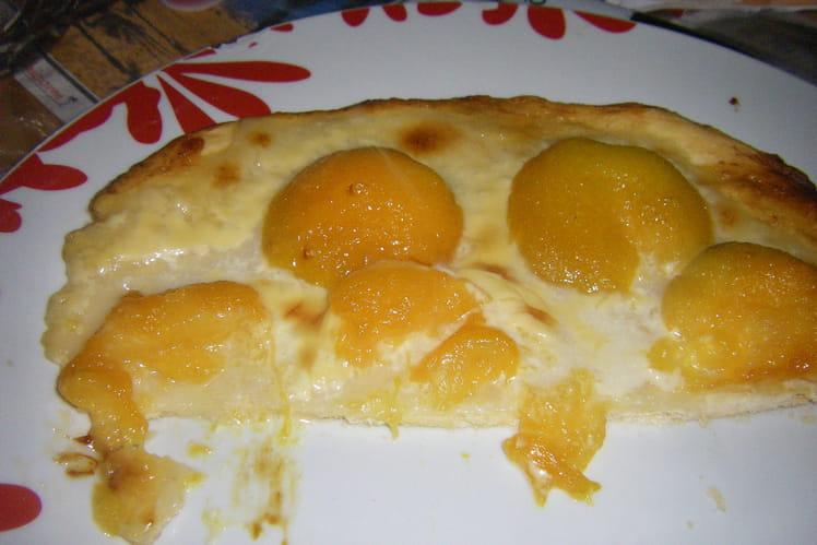 Pizza aux abricots