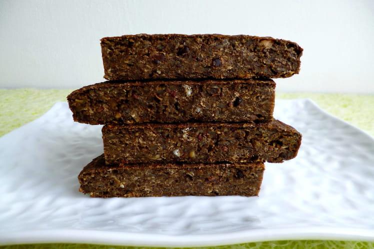Gâteau tofu-muesli sarrasin-chicorée-fèves de cacao