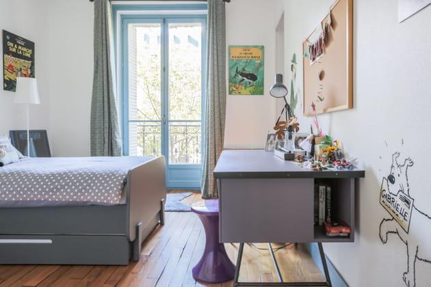 Bureau à niche et lit à rangements