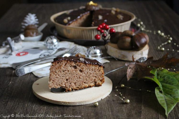 Gâteau ardéchois à la crème de marrons, glaçage