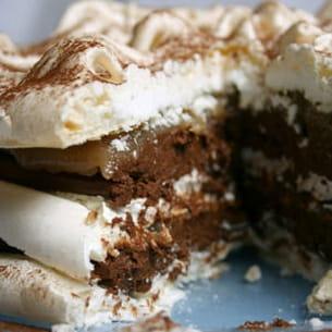vacherin non glacé chocolat et marrons