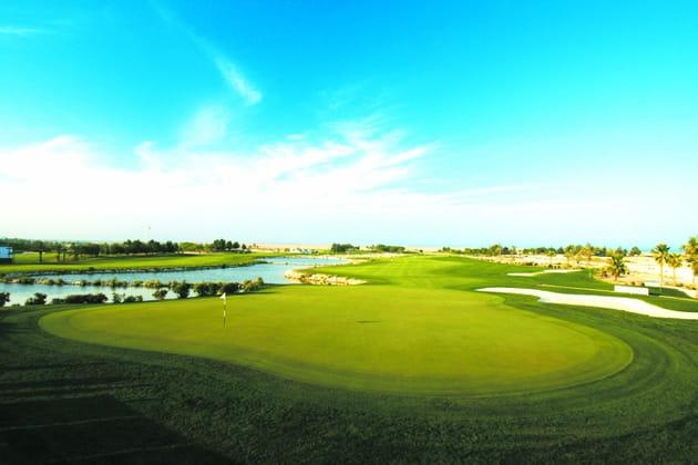 Golfer au Qatar