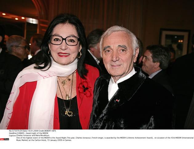 Avec Nana Mouskouri en 2009, à Cannes