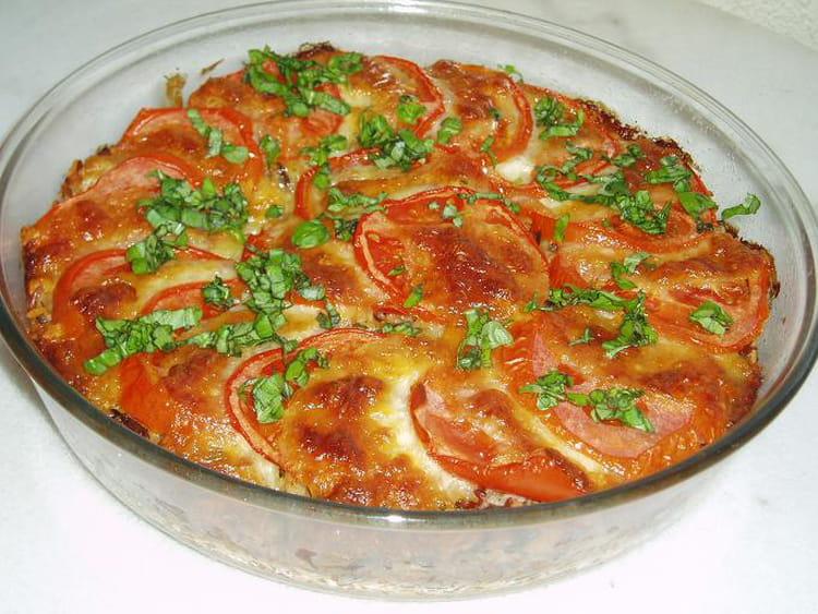 recette de gratin de riz aux tomates et mozzarella la recette facile. Black Bedroom Furniture Sets. Home Design Ideas