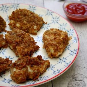 poulet pané aux corn flakes et parmesan