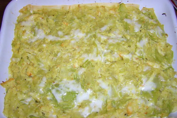 Lasagnes courgette-crabe