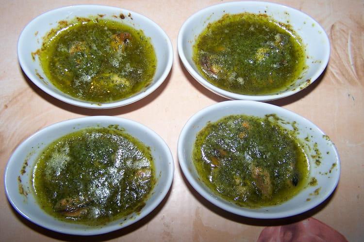 Moules farcies au beurre à l'ail et persil