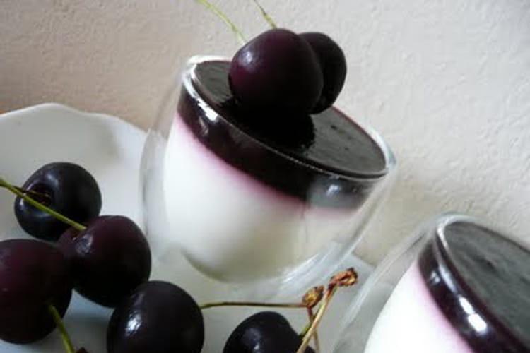 Panna cotta chocolat blanc cerise