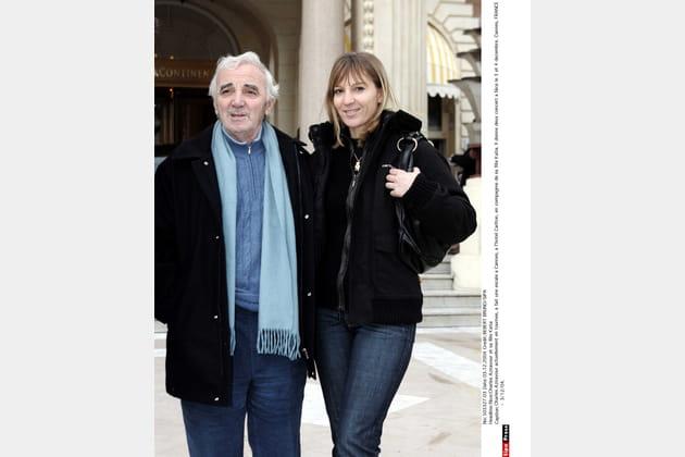 Avec sa fille Katia à Cannes, en 2004