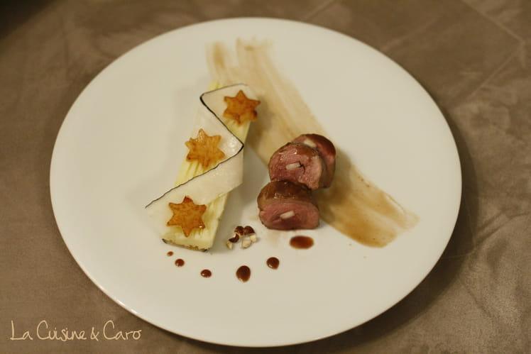 Magret de canard au miel et balsamique