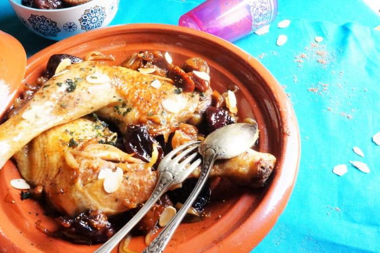 Tajine de poulet aux figues et pruneaux facile et rapide