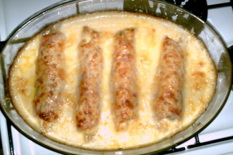 Poirée au jambon, sauce béchamel