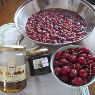 confiture de cerise au miel