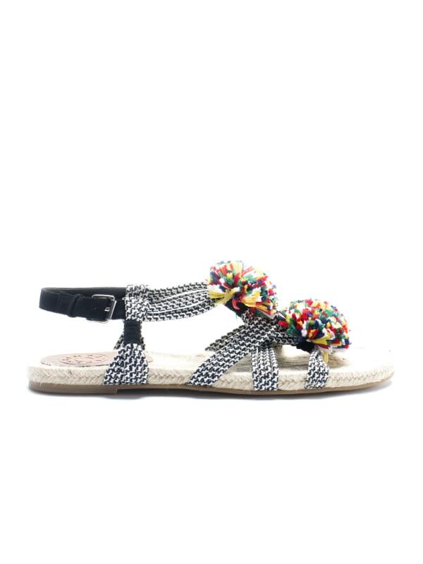 Bimba y Lola Femmes Chaussures Chaussure Sandale Plateforme Sandale Brun Roux Lacets Neuf