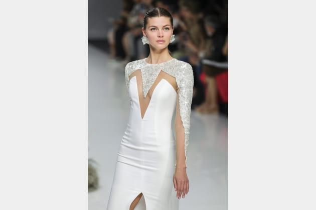 Robe de mariée géométrique, Carla Ruiz