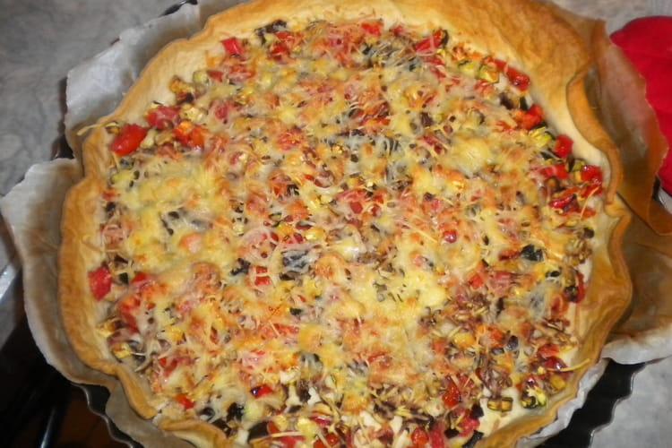 Tarte aux légumes façon pizza