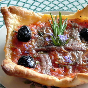 pizza légère à la niçoise