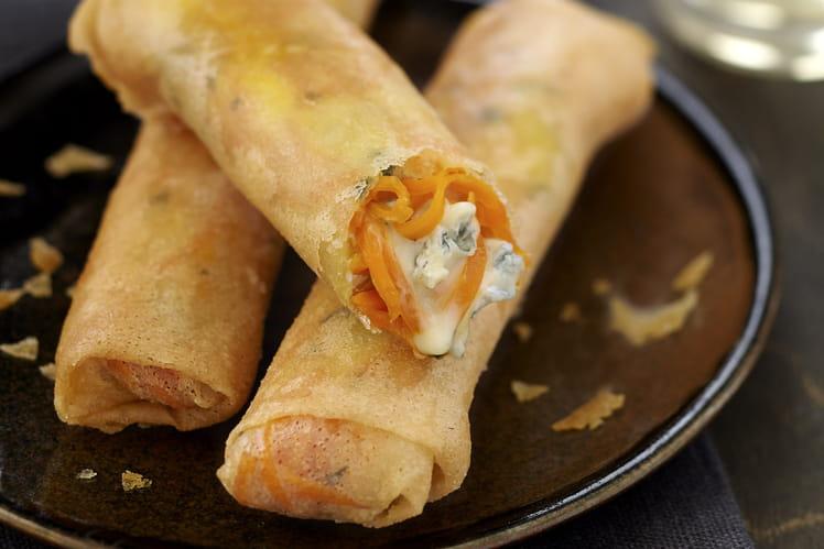 Nems croustillants carotte et Bresse Bleu