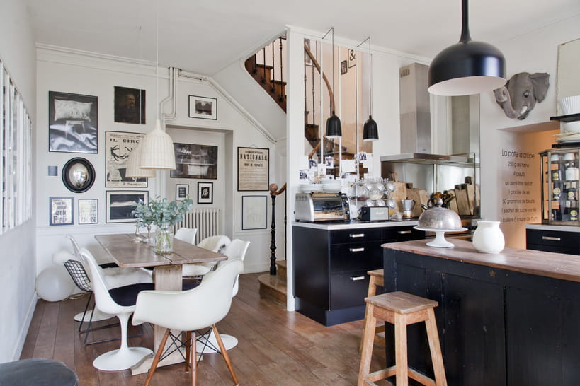 une verri re dans la cuisine pour une pi ce mi ouverte mi ferm e. Black Bedroom Furniture Sets. Home Design Ideas