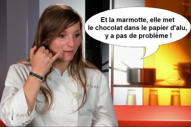 Noémie : La marmotte elle met le chocolat dans le papier d'alu!