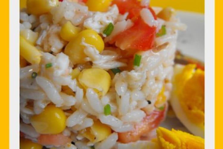 Salade de riz et crabe
