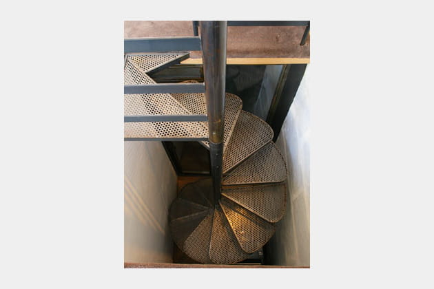 Escaliers fleurs