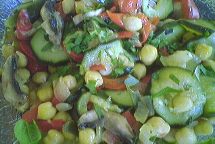 Salade de pois chiches à la provençale