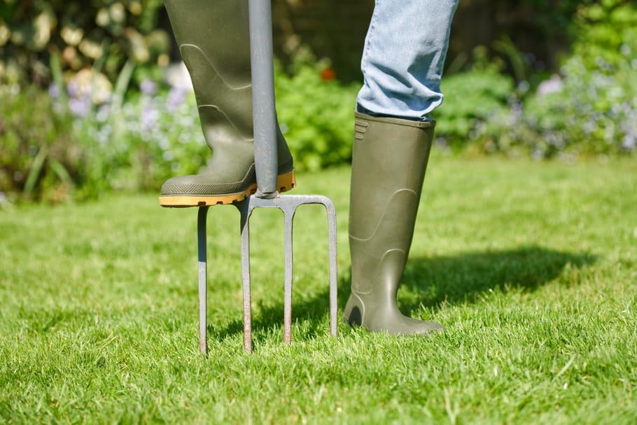 Aérer et scarifier une pelouse