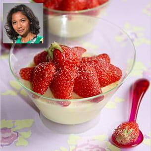 pannacotta au chocolat blanc et fraises