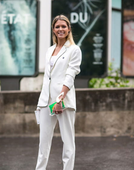 Street looks fashion week haute couture : working girl