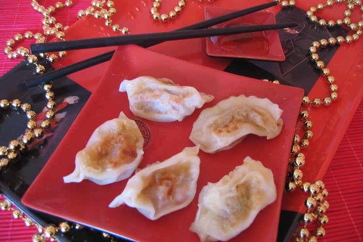 Raviolis japonais au canard et saké