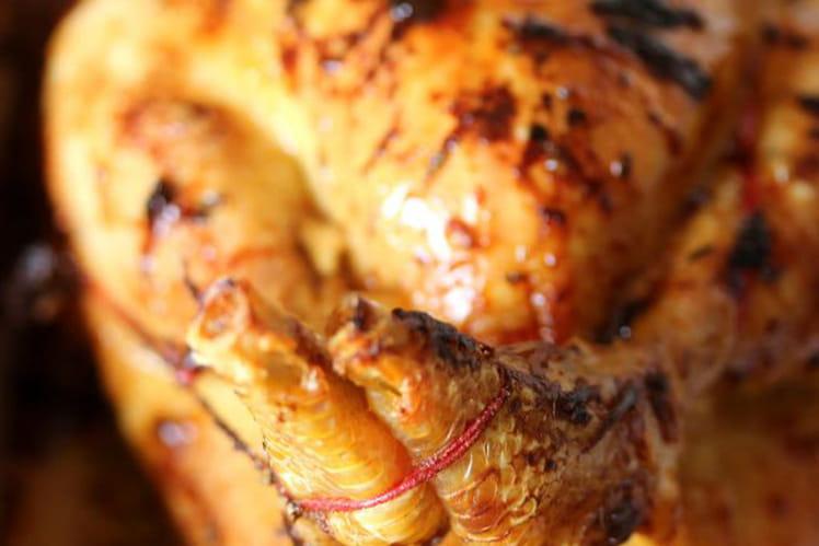 Recette de poulet r ti la moutarde de dijon la recette - Cuisiner un poulet roti ...