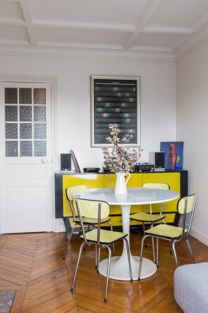 Coin salle à manger jaune safran