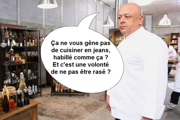 Thierry Marx à Jean-Edern : Ça ne vous gêne pas de cuisiner en jeans?