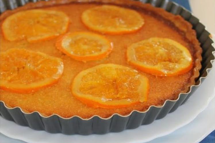 Tarte amandine à l'orange et aux oranges confites